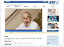 Screenshot of the JDRF APP Homepage